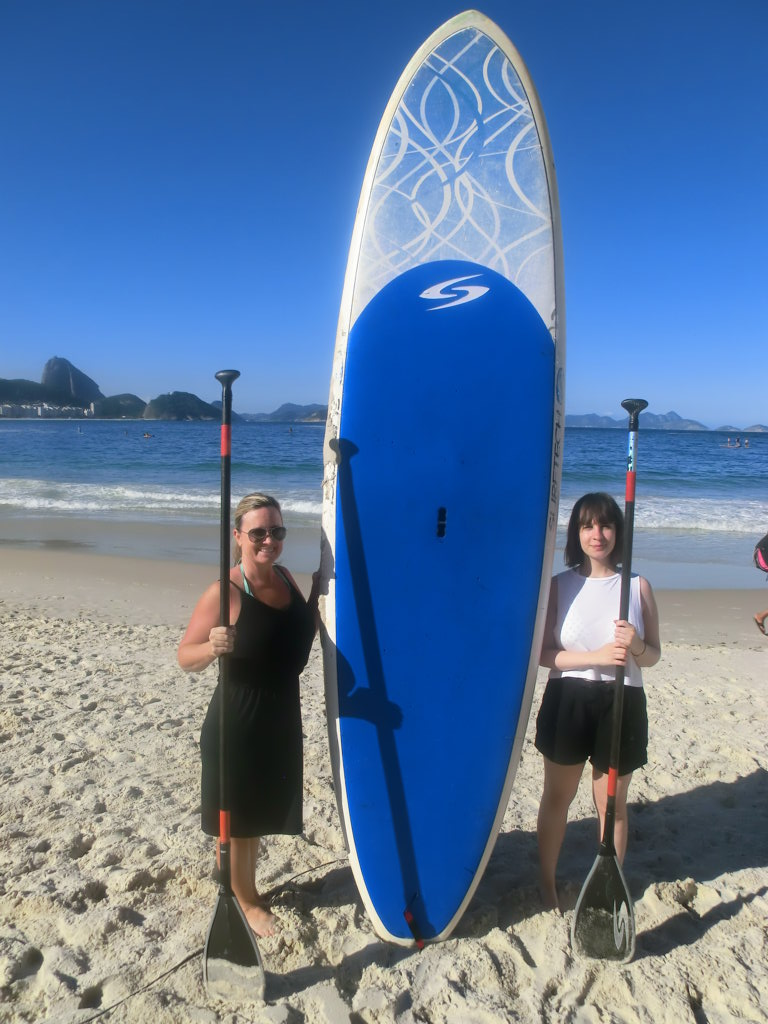 Our students ready for some paddle surf.