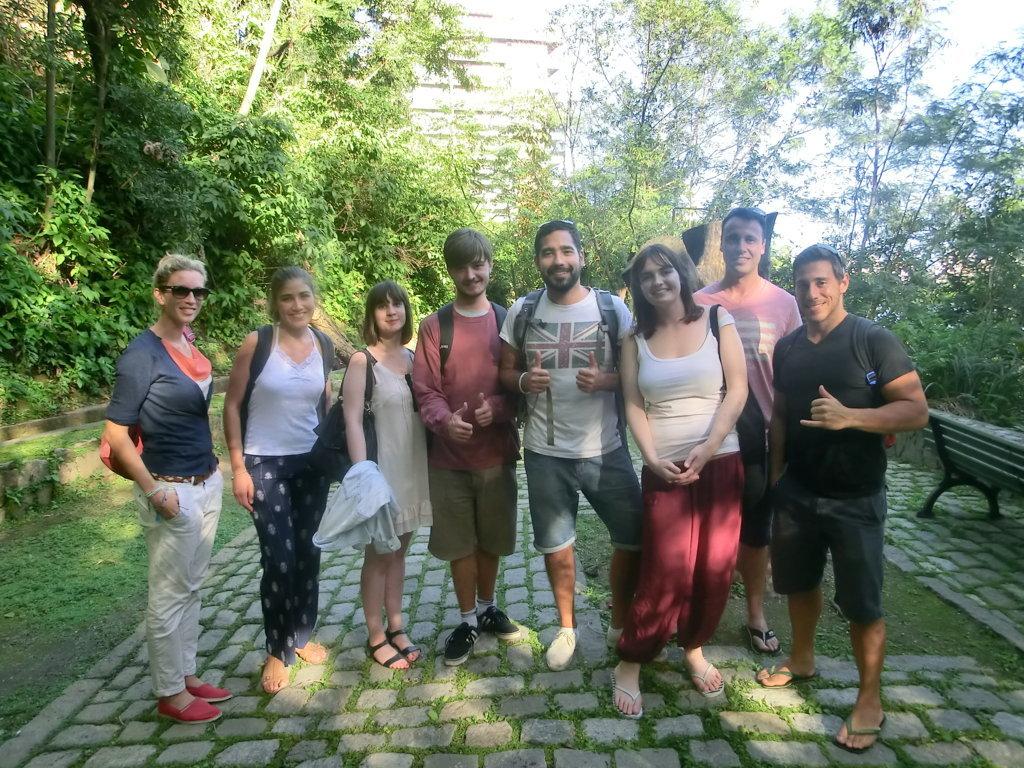 Students of Rio & Learn Portuguese School at Parque da Catacumba, Rio de Janeiro, Brazil