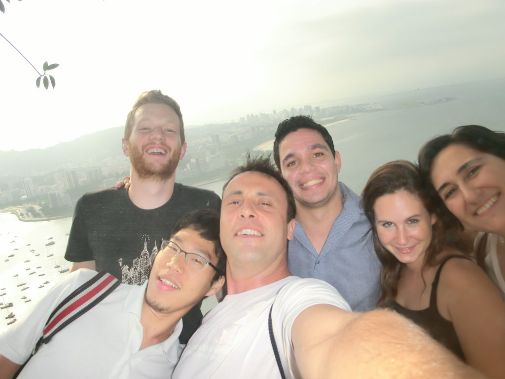 Portuguese students, selfie and the view.