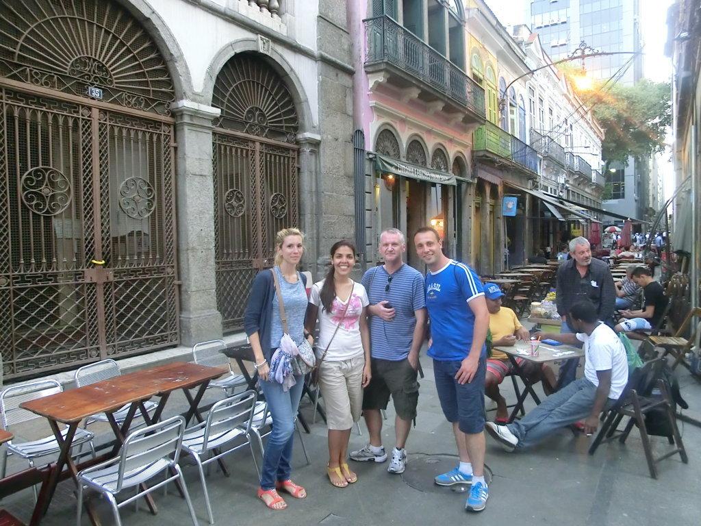 Portuguese students exploring Rio de janeiro