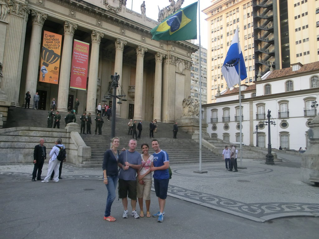Portuguese students at the historic center