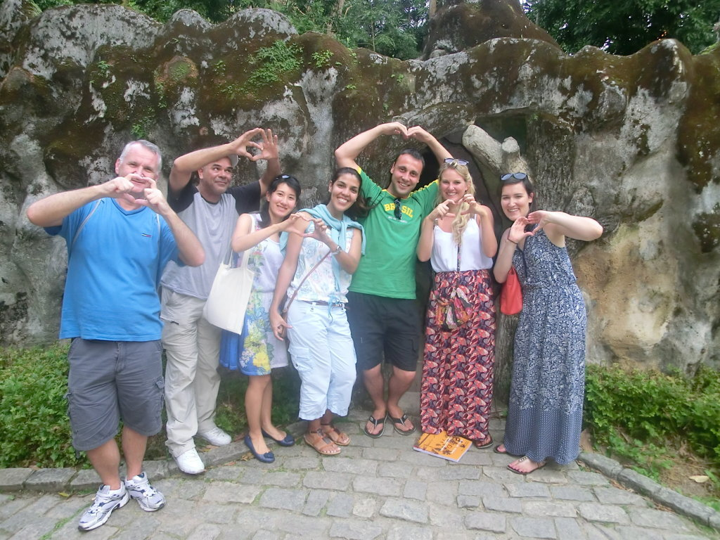 Portuguese students at Parque Lage