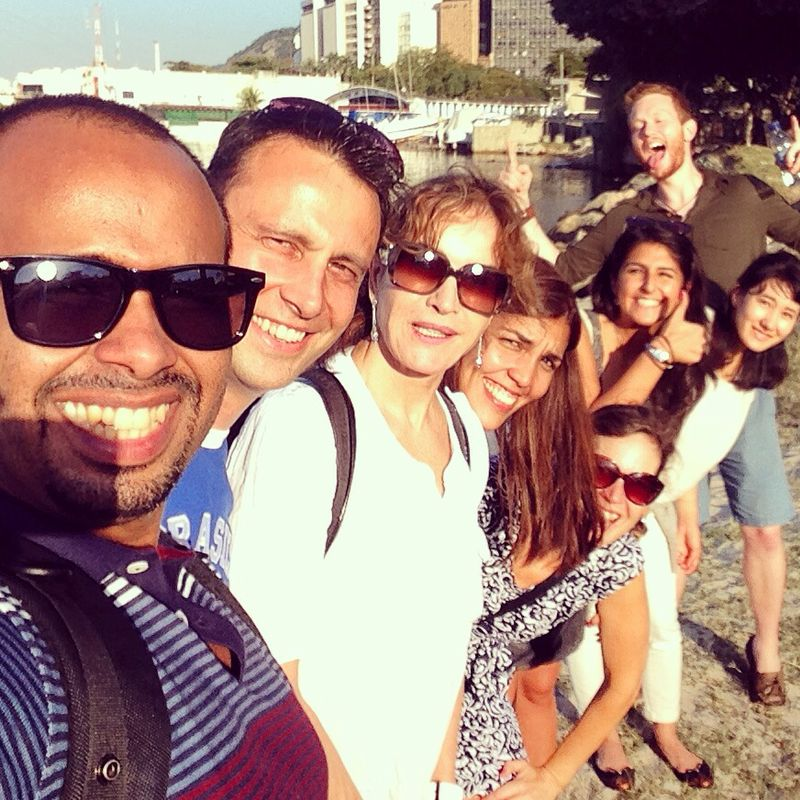 Selfie with students. Learn Portuguese and discover Rio de Janeiro with RioLIVE! Activities by Rio & Learn Portuguese School.
