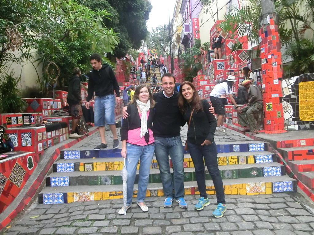 Our Portuguese language students at Escadaria Selarón