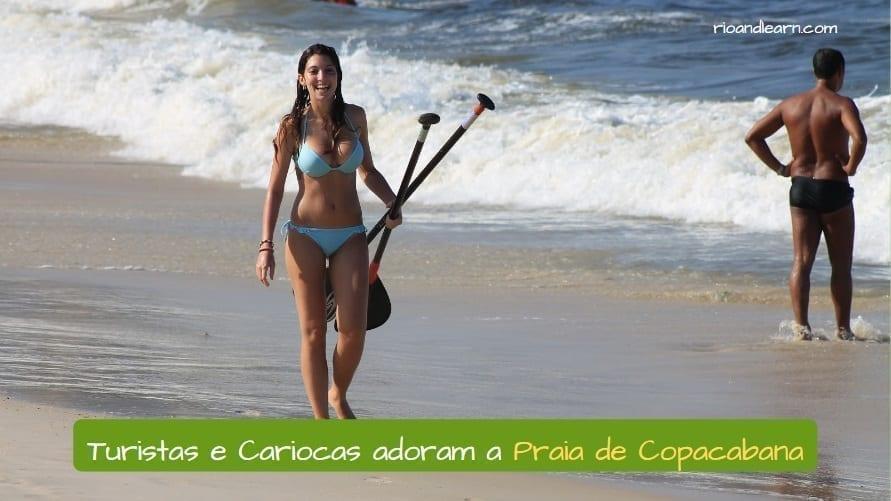 Las mujeres lindas con lindos cuerpos son parte de la Historia de la Playa de Copacabana.