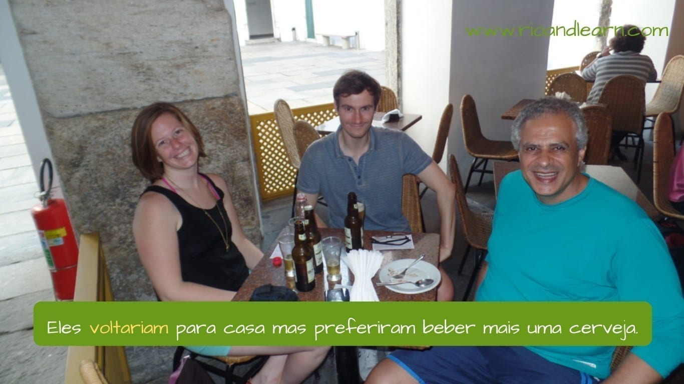Future conditional in Portuguese. Eles voltariam para casa mas preferiram beber mais uma cerveja.