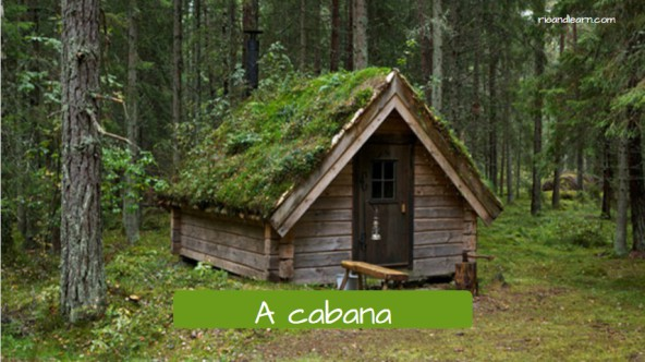 Types of country houses in Portuguese. The hut: A cabana.