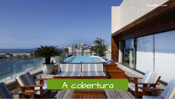 Types of houses in Portuguese. The penthouse: A cobertura.