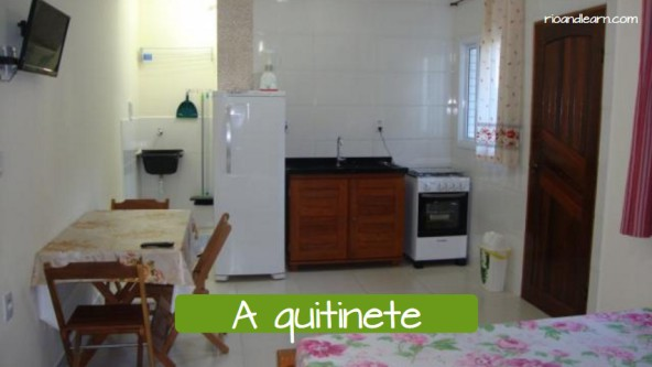 Typical houses in Brazil. The studio apartment: A quitinete.