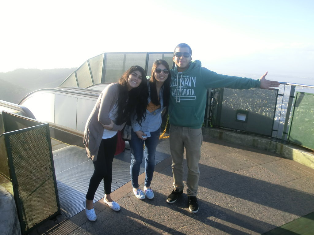 Portuguese students at Corcovado.