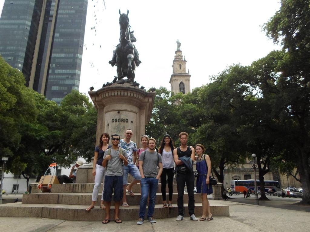 Estudiantes de Portugues en una RioLIVE!