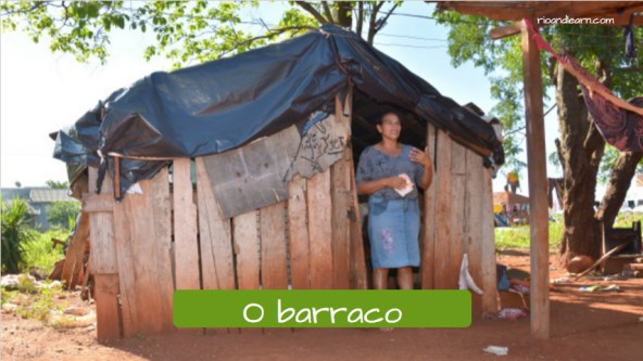 Low cost houses in Braszil. The shanty: O barraco.