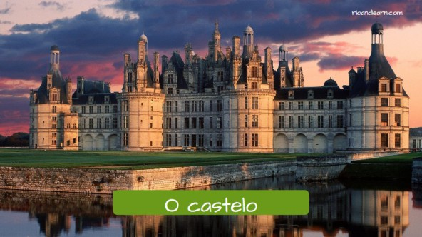 Names of houses in Portuguese. The castle: O castelo.