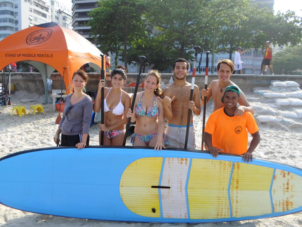 Paddle surf en la playa de Copacabana