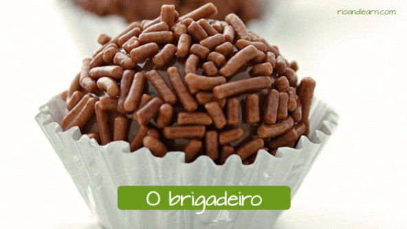 Typical sweets in Brazil: O brigadeiro.