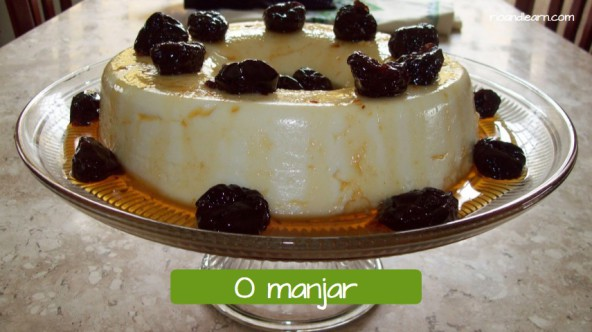 Example of a Brazilian dessert: O manjar.