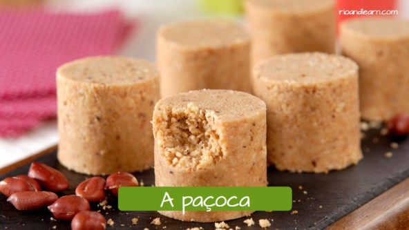 Popular sweets and desserts in Brazil: A paçoca.