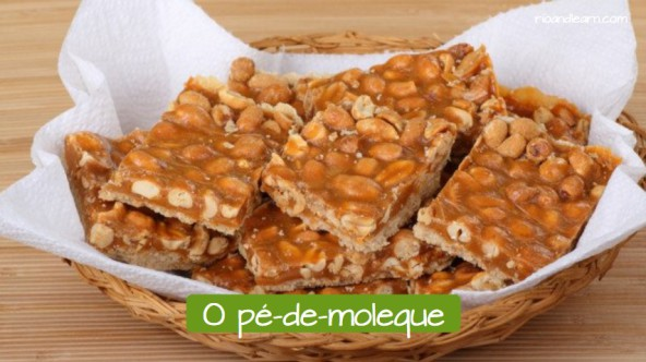 Typical sweet in Brazil: O pé-de-moleque.