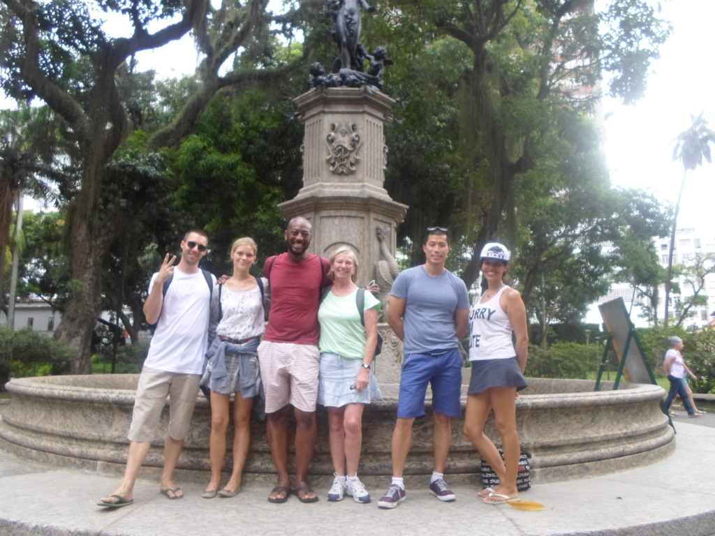 Portuguese students at Parque do Catete.