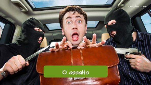 Tipos de crimes em Português: O assalto.