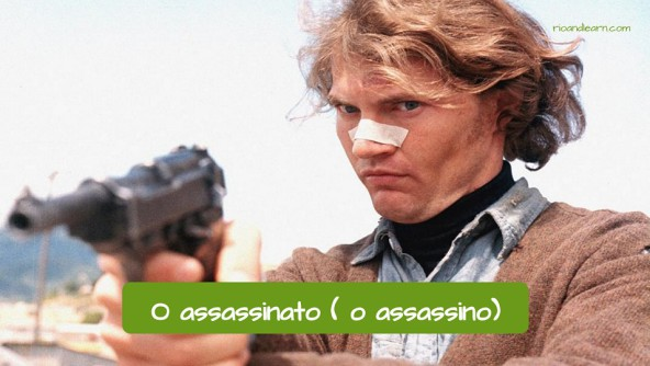 Vocabulário de crimes em Português: O assassinato, o assassino.