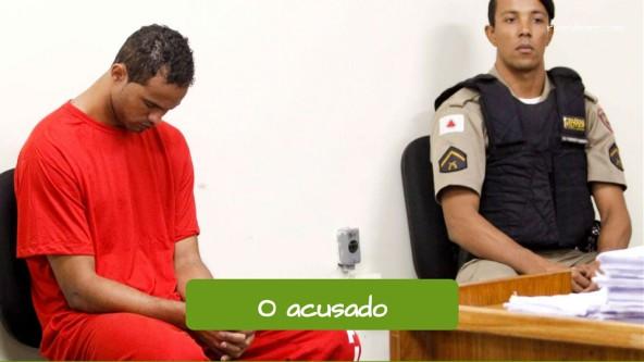 O acusado do crime.