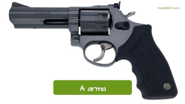 Vocabulário policial: A arma.