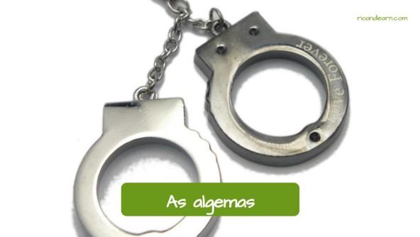 Equipamentos de um Policial: As algemas.