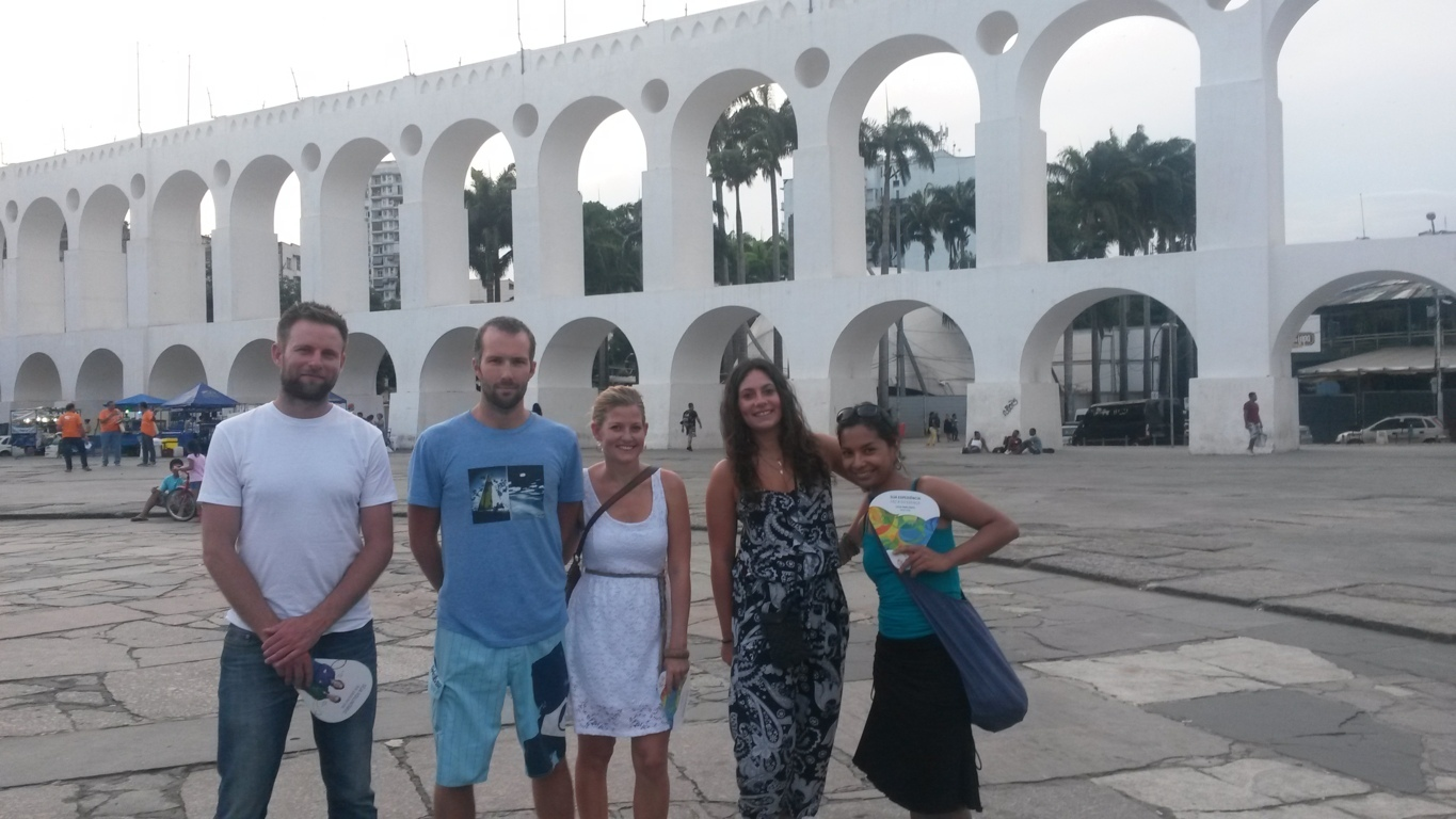 At Lapa, Arcos da Lapa, learn Portuguese and discover Rio