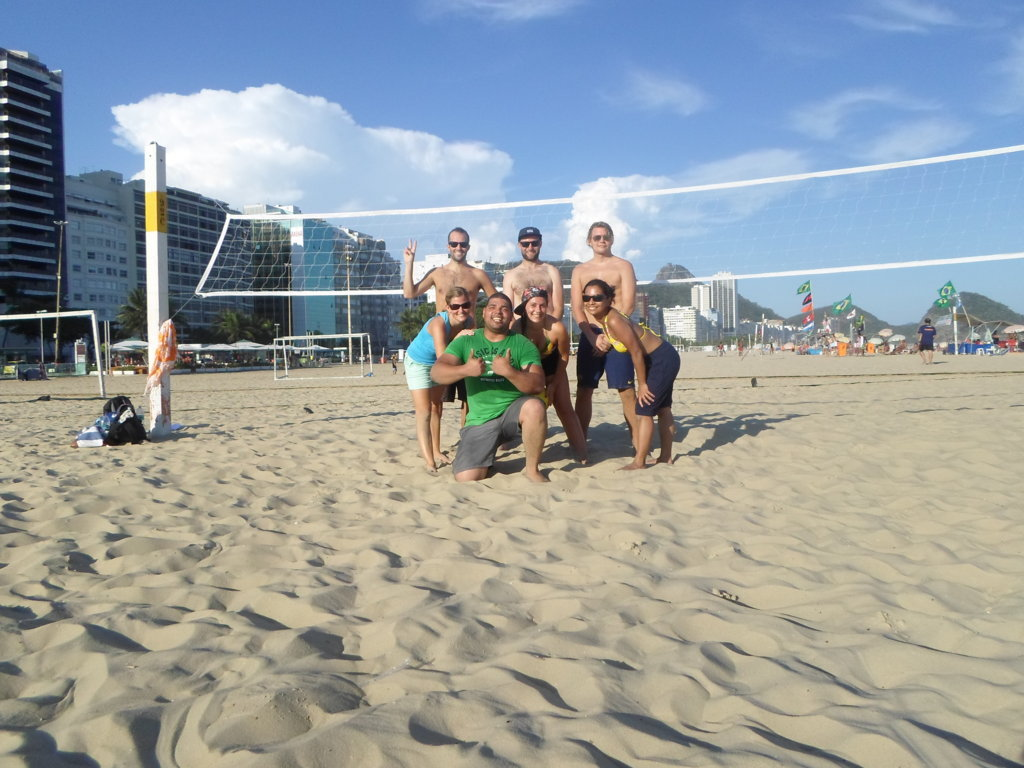 Beach Volley with Portuguese in Copacabana