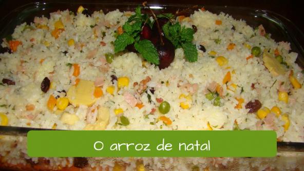 Christmas Dinner in Brazil. Christmas Rice.