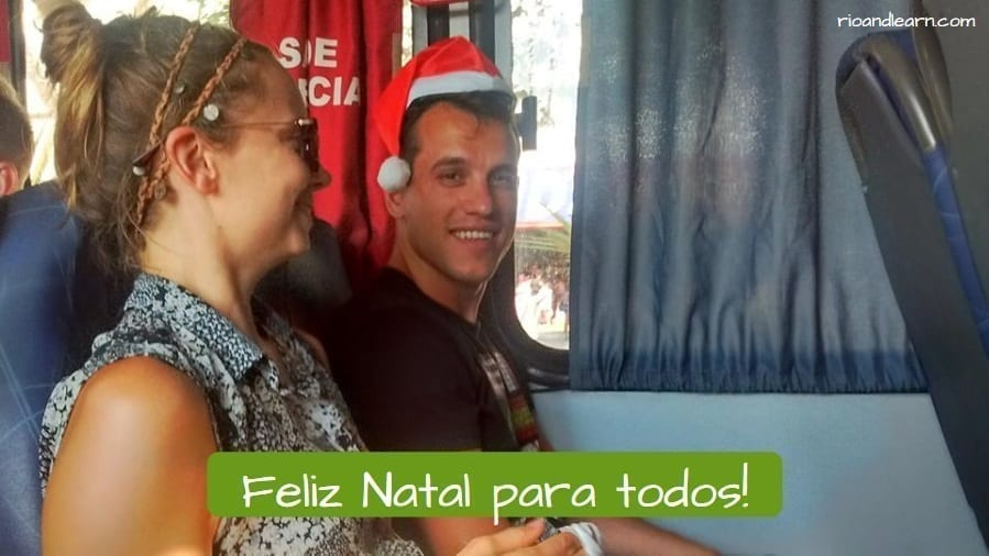 Feliz Natal em Português. Feliz Natal para todos.