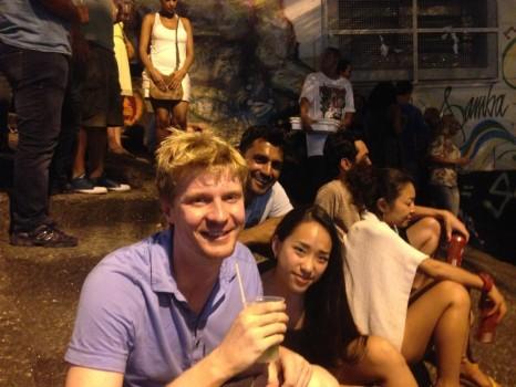 Saaya, Austin and Anup at Last Samba