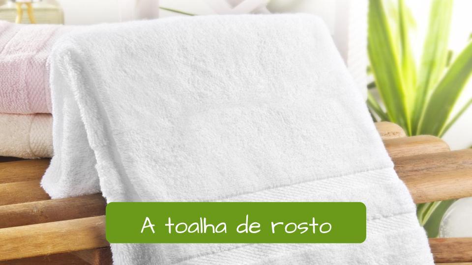 Toilet in Portuguese. Handtowel: A Toalha de rosto.