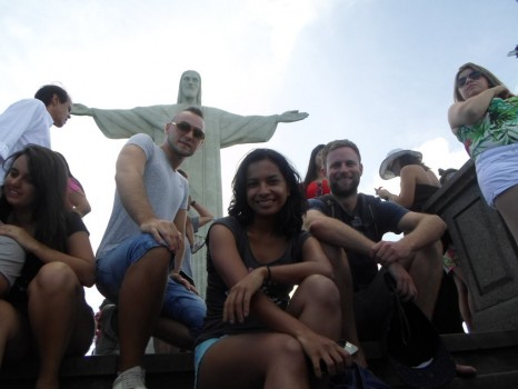 our students having fun in Corcovado .