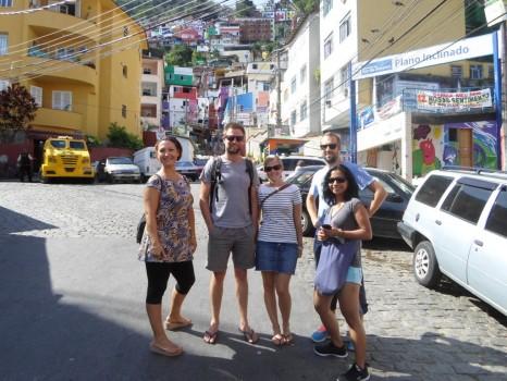 Portuguese students exploring Favela Dona Marta.