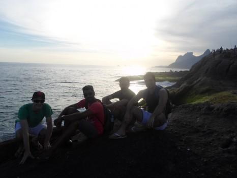 Portuguese students enjoying at Arpoador