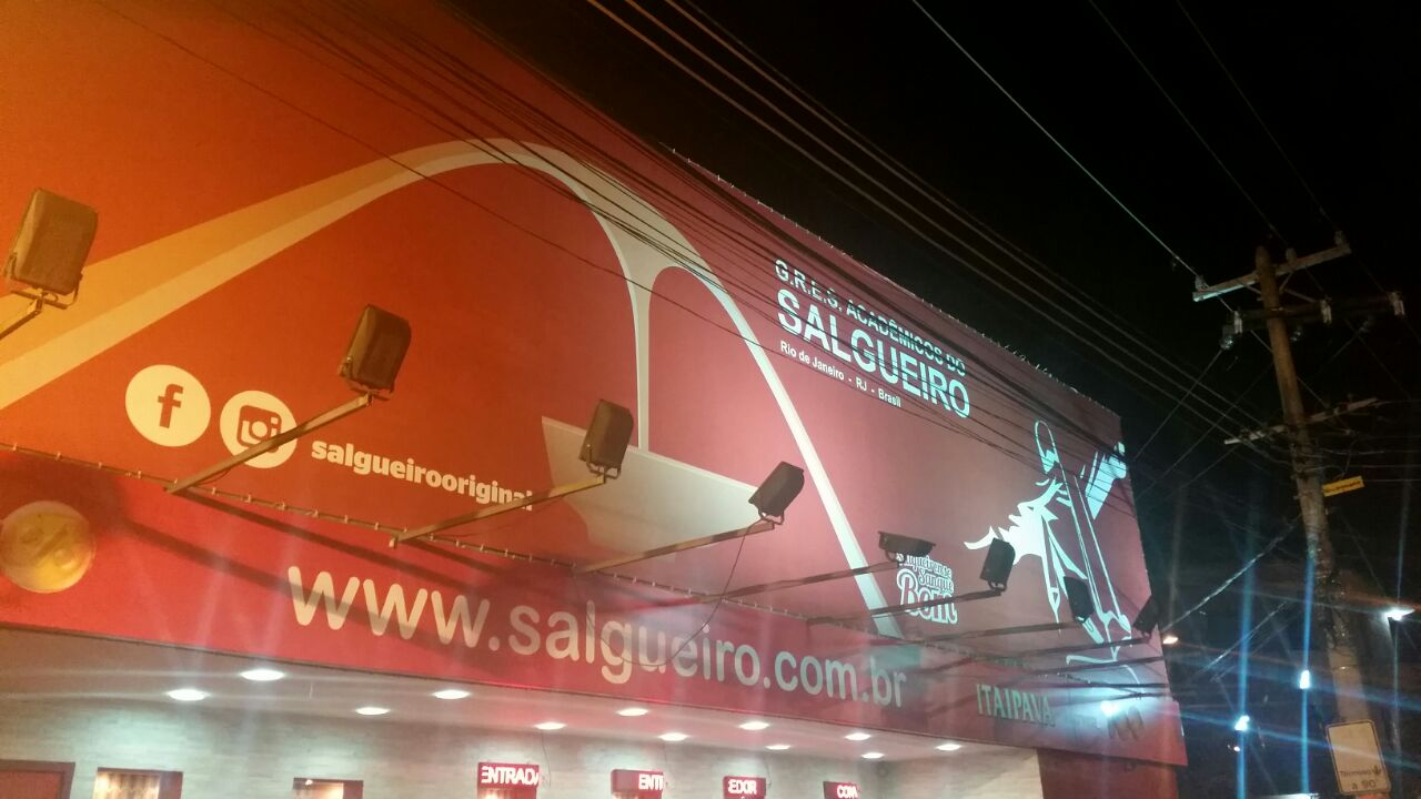 Salgueiro Samba School from the outside.