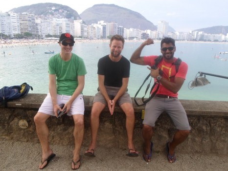Portuguese students at Forte de Copacabana