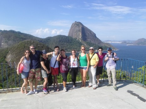 Portuguese students at Forte do Leme