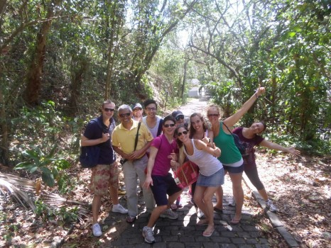 Portuguese students at Morro do Leme