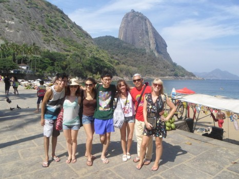 Portuguese students at beautiful Urca