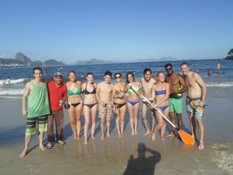 Portuguese students on the beach