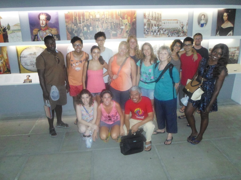 Portuguese students studying Brazilian History