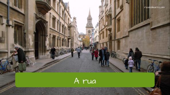 Vocabulário de rua em Português para estrangeiros: A rua.