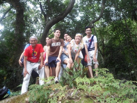 Portuguese students at Parque Lage.