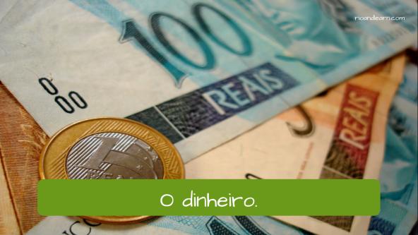 Bank Vocabulary in Portuguese. The money: O dinheiro.