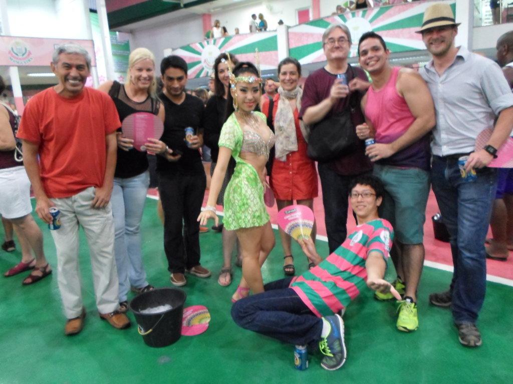 Portuguese students at Mangueira Samba School