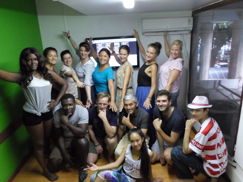 Portuguese students at samba class.