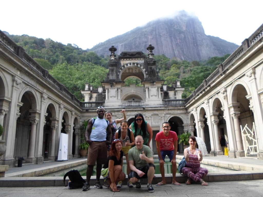 Discovering Parque Lage with our foreign students